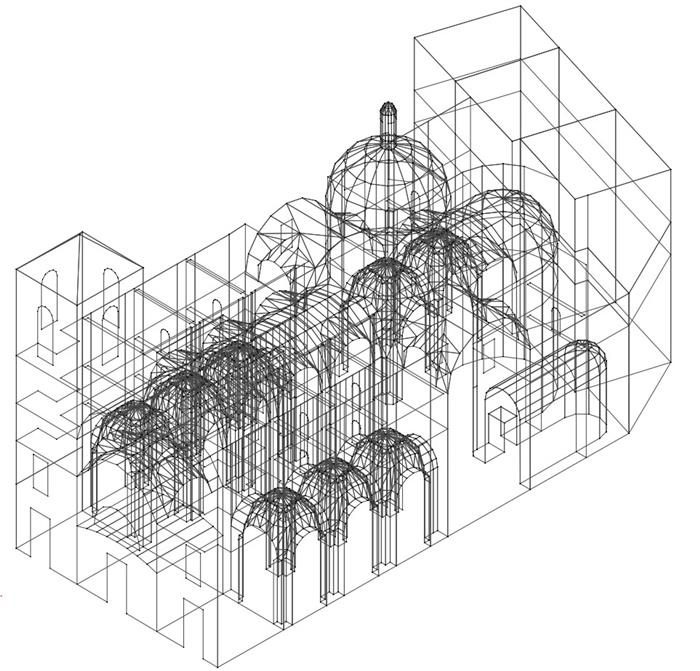 Structural analysis of the Temple church in Valencia