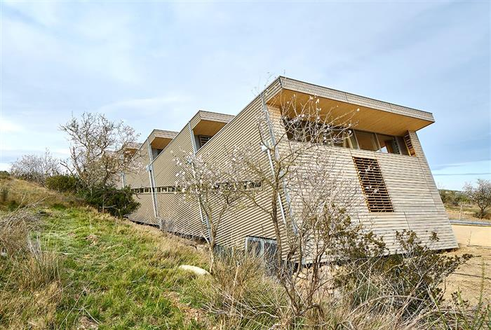 New headquarters of Sivom Narbonne Rural in Montredon des Corbieres (France)